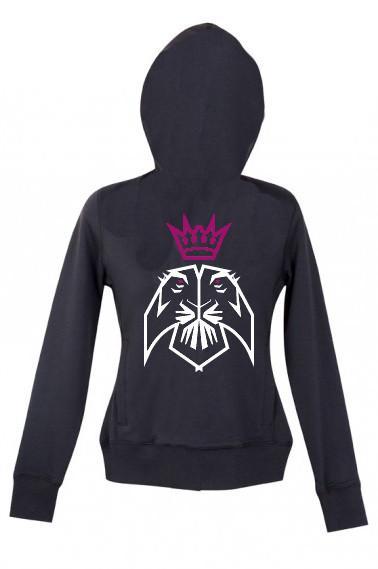 Kids - Monstr Lion Zip up Hoodie (Black)
